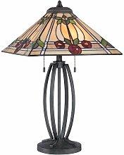 02-elstead - Lámpara de rubí, bronce y cristal