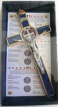 10.004.21 Azul Cruz Oro Blue San Benito 20 cm
