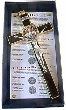 10.004.21 - Cruz crucifijo de oro dorado de San