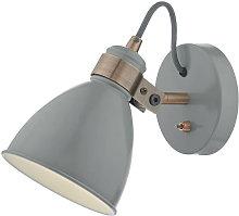 10-dar Lighting - Foco único gris Frederick y