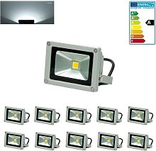 10 Foco proyector LED reflector pared exterior