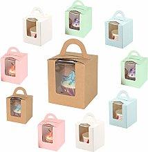 10 Piezas Cajas de Cupcakes para Regalo, Caja