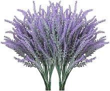 10 piezas de flores de lavanda artificiales de