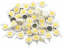 10 Uds 1W 3W LED de alta potencia diodo emisor de