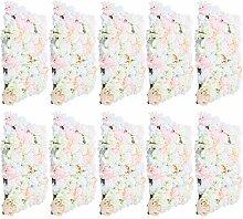 10 unidades de flores de seda artificial para