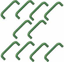 10 unidades tirador asa resina abs verde -