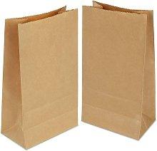 100 bolsas de papel de 21,5 × 12 × 7 cm, bolsa