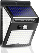 100 LED Luz de pared de luz solar PIR Sensor de