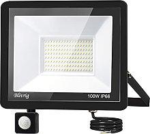 100W Foco LED con Sensor de Movimiento,Blivrig
