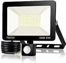 100W Foco LED con Sensor de Movimiento, Proyector