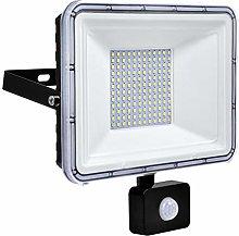 100W Foco LED Exterior con Sensor Movimiento, IP67
