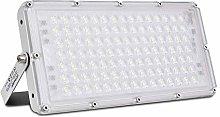 100W Focos LED Exterior, Sararoom Floodlight 180°