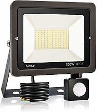 100W LED Foco Exterior con Sensor Movimiento,