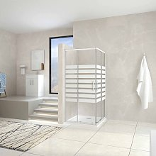 100x100x195cm Mamparas Cabina de ducha con Puerta