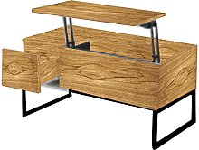(105 x 57 x 11 cm). Mesa de centro elevable, mesa