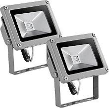 10W Foco LED RGB de Colores, Focos LED Exterior