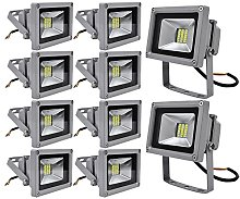 10x 20W SMD Foco LED Impermeable IP65 pared Foco