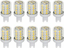 10x LED G9 3 vatios iluminante 330 lúmenes foco