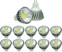 10x LED Spot 6W COB MR16 - Equivale 40W Halógeno
