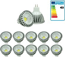 10x LED Spot regulable 4W MR16 COB - Equivale 20W