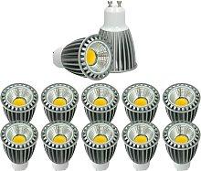 10x LED Spot regulable 9W GU10 COB - Equivale 60W