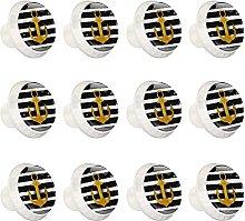 12 botones de cajón cuadrado de cristal de 30 mm,