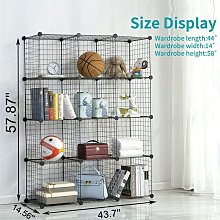 12 cubos estantes de almacenamiento plegables