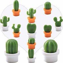 12 Piezas Imanes de Nevera, Planta de Cactus