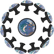 12 pomos de cristal de 35 mm para armario de