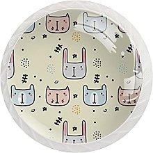 12 pomos de cristal de 35 mm para puerta de