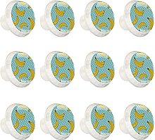 12 pomos de cristal de colores para armario de