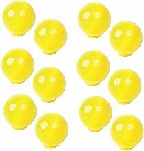 12 Un. TIRADOR Pomo bola resina ABS amarillo