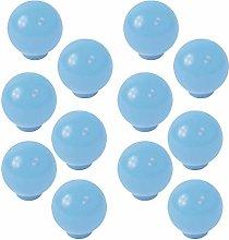 12 unidades tirador pomo bola resina abs azul