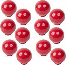 12 unidades tirador pomo bola resina abs rojo
