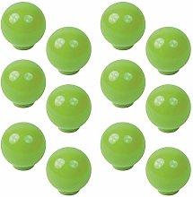 12 unidades tirador pomo bola resina abs verde