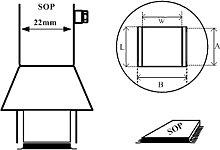 [1259] Boquilla de aire caliente SOP 13x28mm