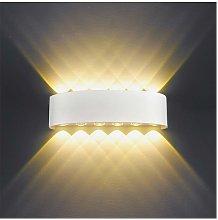 12W LED Lámpara de pared Interior (Blanco)Aplique