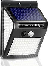 140 LED de luz solar, luz de pared, sensor de