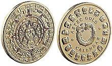 1pc Conmemorativa Calendario De La Moneda Mexicana