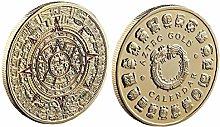1pc De Colección Monedas De Oro Conmemorativa