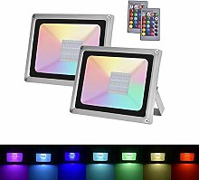 2×100W Sararoom RGB Foco LED,IP65 Impermeable