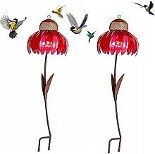 2 comederos para pájaros silvestres para