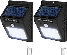 2 focos solares LED con sensor de movimiento -