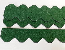 2 juegos de tejas de pizarra (55 mm), color verde