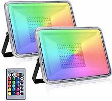 2 Pack 100W Foco Led RGB Con Función de Memoria,