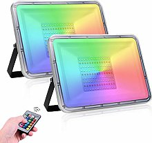2 Pack 100W RGB LED Floodlight Led Foco Exteriores