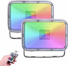 2 Pack 20W Foco Led RGB Con Función de Memoria,