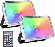 2 Pack 30W Foco Led RGB Con Función de Memoria,