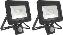 2 pcs 30W Foco LED Exterior con Sensor Movimiento,