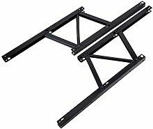 2 piezas de metal de mesa centro elevable hierro